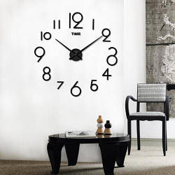 Настенные часы 3D 2017 Black