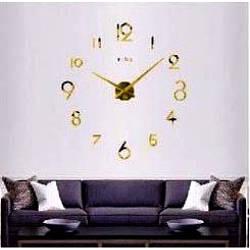 Настенные часы 3D 2017 Gold