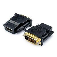 Переходник Atcom (11208) DVI(M) -HDMI(F) Black 24pin