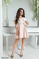 Женское розовое летнее платье Распродажа (р. 42-48) 5495 АРЛ