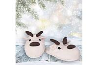 Тапочки игрушки новогодние Лось Олень Размер 25 - 45