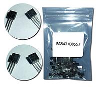 Набор транзисторов 50 штук BC547 + BC557
