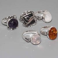 Янтарь индийское аккуратное кольцо с ярким янтарем в серебре. Размер 17,5-18.