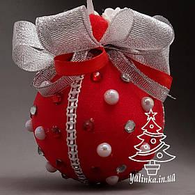 Дизайнерский шар из пенопласта диаметром 80 мм Красный