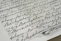 Тишью декоративная бумага 1 лист, Love black&white