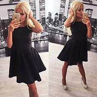 Черное платье из неопрена