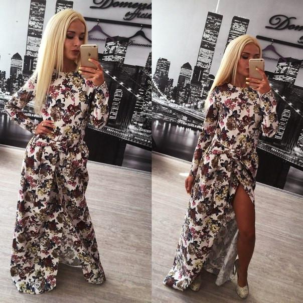 Красивое длинное платье коттон