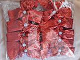 Новогоднее украшение Бант  серебро металлик  14*10 см, фото 4