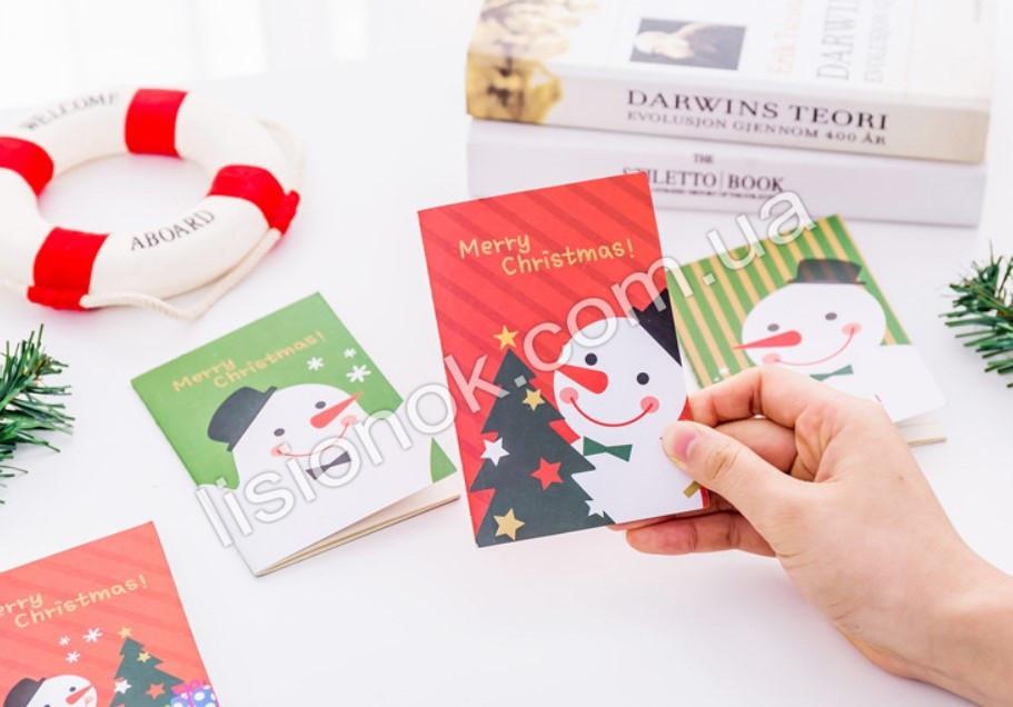 Мини блокнот «Волшебный Снеговик» прекрасный новогодний подарок