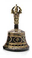 Тибетский колокол бронзовый d-8,7 h-15см (23501)
