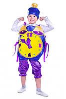 Детский карнавальный костюм Новогодние часы праздничные, рост 115-125