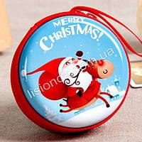 Новогодний кошелек, круглый, очень яркий, отличный новогодний подарок, фото 1