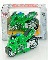 Модель мотоцикла Modern Sity металлопластиковая зеленая R203323