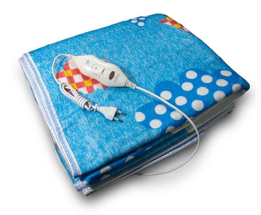 Двуспальная электропростынь Electric Blanket (150x120 см, 86 W) простынь с подогревом, электроодеяло