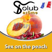 Ароматизатор Solub Arome - Sex on the peach (Фруктовий напій, що поєднує персик і журавлину), 10 мл, фото 2