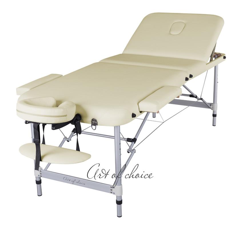 Складаний масажний стіл кушетка для масажу ArtOfChoice масажна кушетка складна регульована LEO КОМФОРТ
