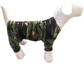 Комбинезон костюм трикотажный камуфляж для собак