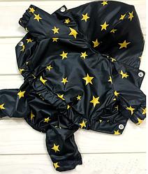 Дождевик для собак Звезды Черный