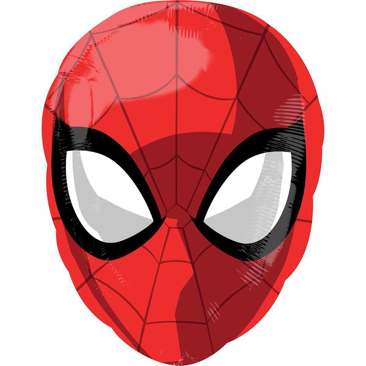 Шар воздушный фольгированный  фигура в форме маски Человек Паук  40 см