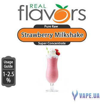 Ароматизатор Real Flavors Super Concentrate Strawberry Milkshake (Клубничный молочный коктейль), 10 мл.