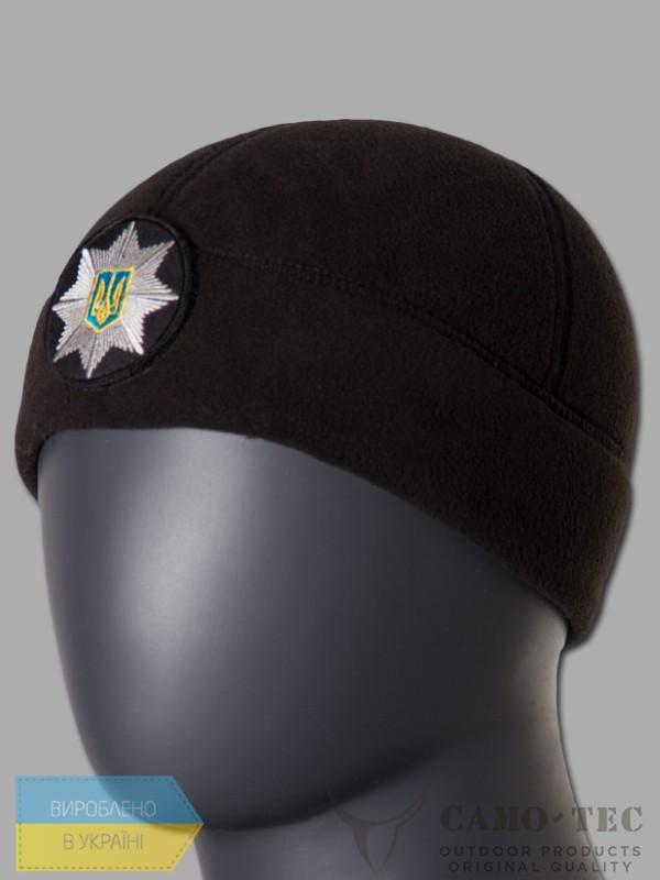 Шапка флисовая Camo-Tec Velcro Fleece 340 - Черная