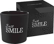 Аромасвеча Just SMILE с двумя фитилями Bispol 10 см (sn100m-274)