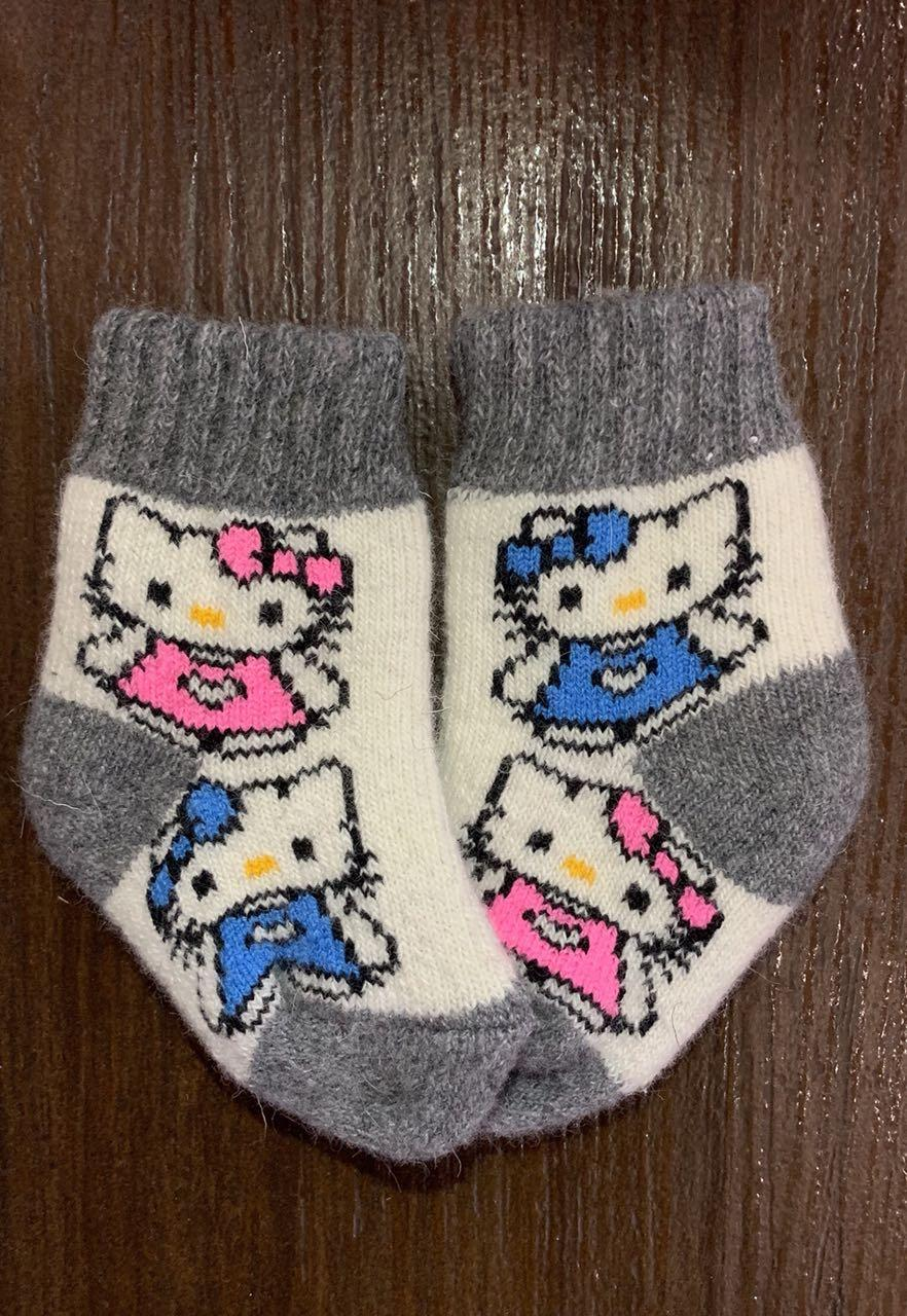 Носки из натуральной шерсти детские   от 0 до 1,5 года для девочки