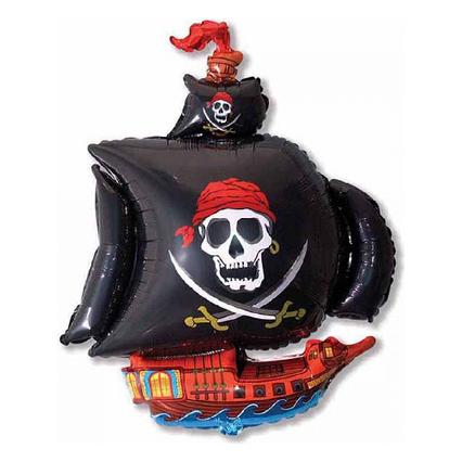 Фольгированный шар фигура Пиратский корабль Flexmetal (Испания), 65х74 см