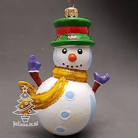 Пластиковая игрушка на елку Снеговик