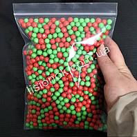 Червоно-зелені пінопластові кульки для слаймів – 2000 штук, для створення кранч слаймів (crunchy slime), фото 1