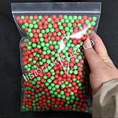 Красно-зеленые пенопластовые шарики для слаймов – 2000 штук, для создания кранч слаймов (crunchy slime)