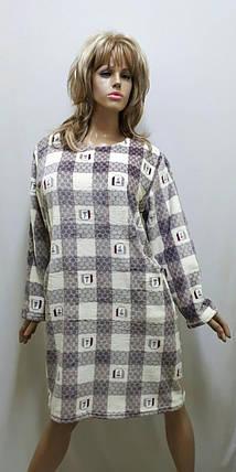 Туника махровая с карманами, размеры от 48 до 56, фото 2