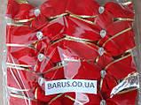 Новогоднее украшение Бант  красный  бархат 14*11 см, фото 2