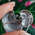 Серебряная брошь Ежики - Серебряная женская брошка, фото 2
