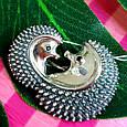 Серебряная брошь Ежики - Серебряная женская брошка, фото 5