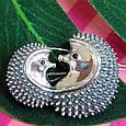 Серебряная брошь Ежики - Серебряная женская брошка, фото 3