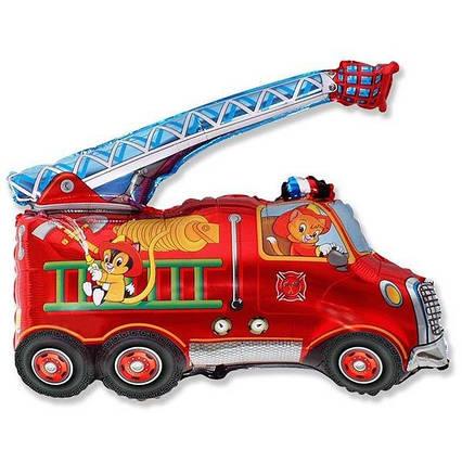 Фольгированный шар фигура Пожарная машина красная  Flexmetal (Испания), 65х50 см
