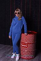 Теплый спортивный костюм из трехнитки с худи и зауженными штанами 2SP808