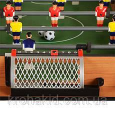 Настольный футбол деревянный на ножках 20215 - на штангах, шкала вед.счета,  92-51-72 см, фото 3