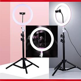 Кольцевая лампа со штативом 26см кольцевой свет кольцевые лампы со штативом усиленным треногой визажистов