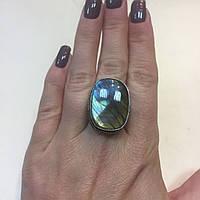 Лабрадор кольцо с натуральным камнем лабрадор в серебре. Кольцо с лабрадором 19,5-20 размер Индия