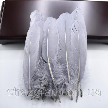Перья гуся Декоративное перо Цвет Серый 13-20см