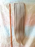 Хвост прямой на ленте платиновый блонд CIVK-15ВТ613, фото 2