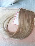 Хвост прямой на ленте платиновый блонд CIVK-15ВТ613, фото 4