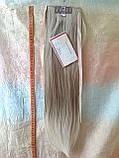 Хвост прямой на ленте платиновый блонд CIVK-15ВТ613, фото 3