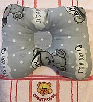 Ортопедическая подушка - бабочка серый / Тэдди