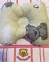 Ортопедическая подушка - бабочка молочный / Тэдди