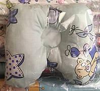 Ортопедическая подушка - бабочка мятный, молочный,розовый