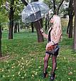 Зонт Black чёрный (прозрачный), фото 4