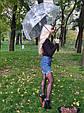 Зонт Black чёрный (прозрачный), фото 5
